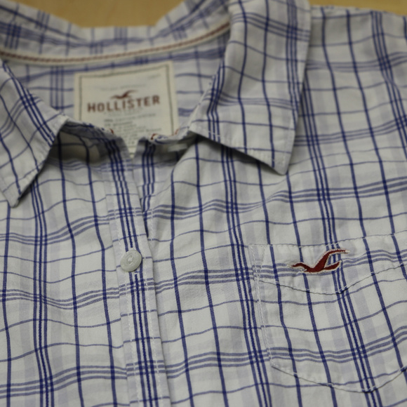 Hollister Other - Hollister Boys Long Sleeve Blue stripe Button Down